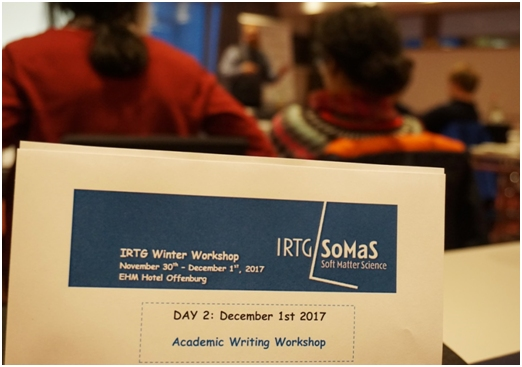 "IRTG SoMaS Training Camp ""Academic Writing"""